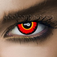 Red Werewolf Cool Contact Lenses