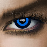 Saw Blue Cool Contact Lenses