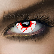 White Blood Shot Contact Lenses