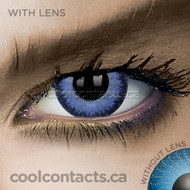 Glimmer Blue Contact Lenses (coolcontacts.ca)