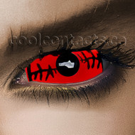 Red Stitch Sclera  22mm Contacts