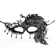 Peacock Lace Masquerade Party Mask