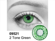 Green 2 Tone Contact Lenses