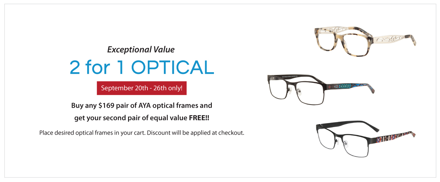 2 for 1 AYA Optical Frames