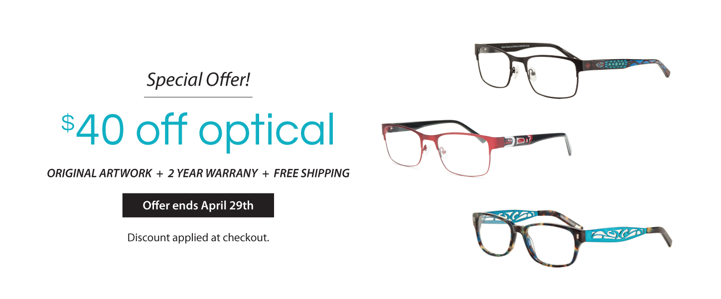 $40 off Optical Frames
