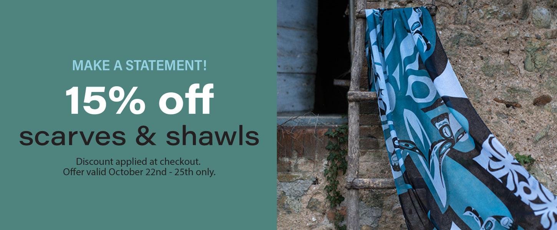 15% off shawls
