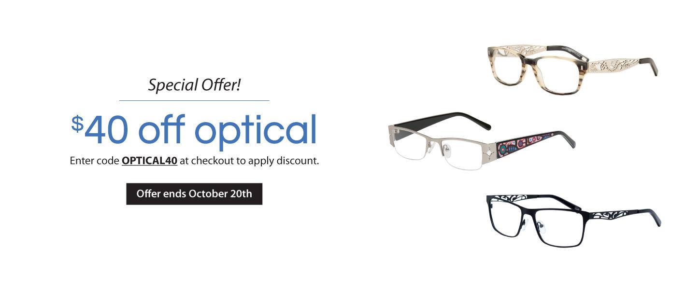 $40 off Optical Frames