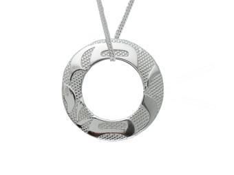 Silver Pewter Equilibrium Pendant