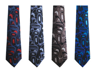 Kelly Robinson 100% Silk Boxed Tie - Eagle