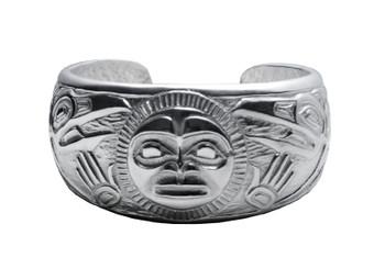 Silver Pewter Raven Bracelet