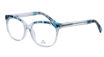 Landlines - Optical Frame - Crystal with Blue