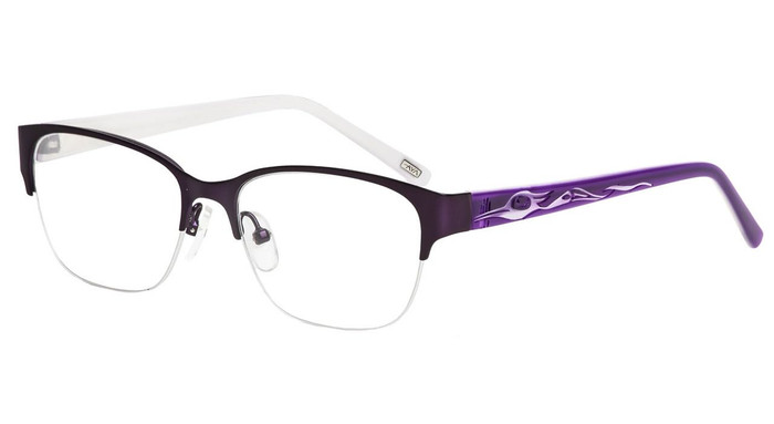 Satin Purple Purple/White