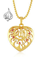 Heart shaped Pendant Gold