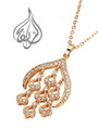 gold plated pendant with stones