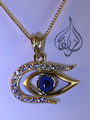 egyptian evil eye pendant gold