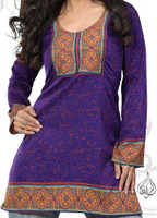zahra indian top purple