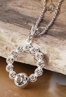 white gold circle pendant