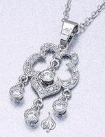 Chandelier styled pendant, silver / rhodium