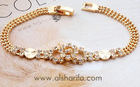 gold plated bracelet with cz stones