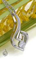 Beautiful Rhodium Pendant