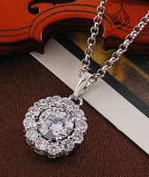 white gold plated pendant