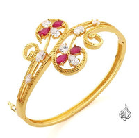 bangle with floral design