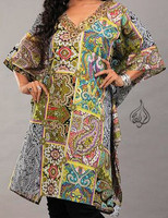 Free Size Long Indian Tunic - Cotton