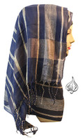 gray hijab scarf, long hijab wrap, fashion scarf, aqua