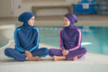 Girl Islamic Swimsuit Life Style Photo