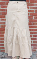 Tiered Skirt Tan - front