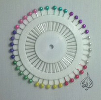 Dressmaking Pinwheel, Hijab pins, pearl head pin