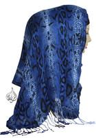 hijab scarf, head wrap, python boa scarf