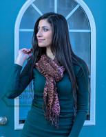 leopard print scarf, animal print neck scarf