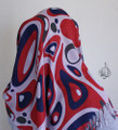 Retro Fashion Scarf or Hijab  [FSH-6634-Red]