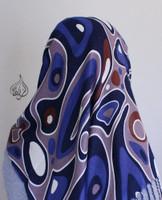 Retro scarf, muslim hijab scarves - navy