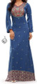 Blue Long Dress - Indian Caftan