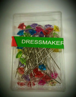 Dressmaking pins, Long Hijab pins, color head pin