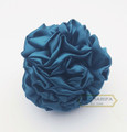 Medium Flower Fabric Hair Clip Turquoise
