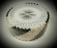 Dressmaking Pinwheel, Hijab pins, pearl head pin, black & white only