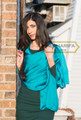 satin fabric long shayla- Turquoise