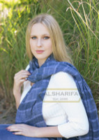 Hangzhou Hijab Scarf Blue with Tassels