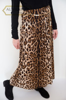 "38"" Long Classic Leopard Maxi Skirt Front view"