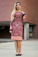 Multi-color Printed Dress / Indian Tunic / orange theme