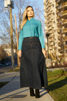 ALSHARIFA ECO JEANS DENIM SKIRT FRONT