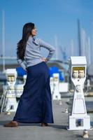 Cotton Twill Skirt S103 Blue