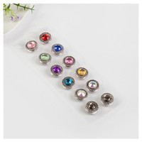magnetic pins, semi sphere silver