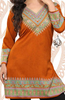 V-neck Tunic - Rust