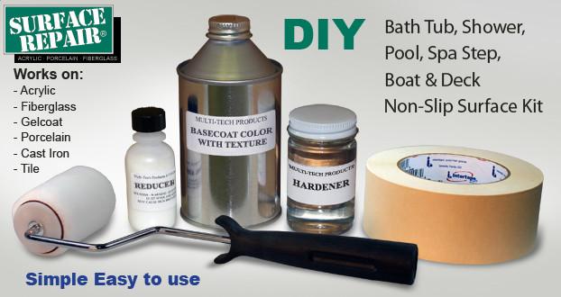 Slip Resistant Treatment Kit For Bath Tub And Shower Floors