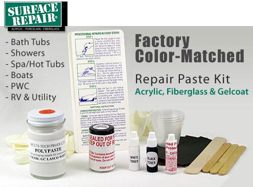 Aquatic Lasco Repair Kit Colors White Almond Bone Biscuit