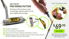 A golf training device that can dramatically lower your golf score quickly. Rolled the ball, smooth out your putting stroke and see the difference.